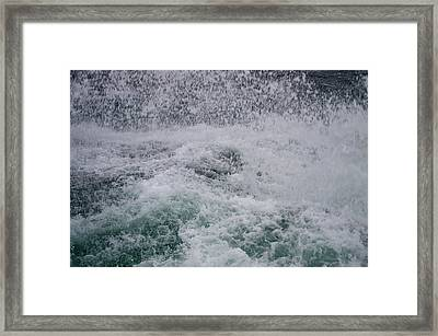 A Splash Of Blue Framed Print by Sheldon Blackwell