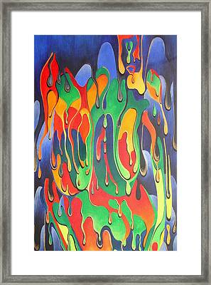A Splash Of Paint Framed Print