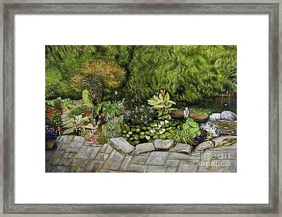A Splendid Garden - Koi Pond Framed Print