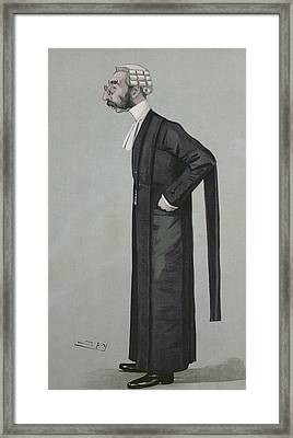 A Sporting Lawyer, Form Vanity Fair, 17th March 1898 Colour Litho Framed Print by Leslie Mathew Ward