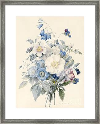 A Spray Of Summer Flowers Framed Print by Louise D Orleans