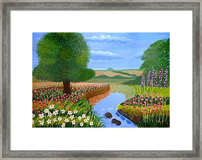 Framed Print featuring the painting A Spring Stream by Magdalena Frohnsdorff