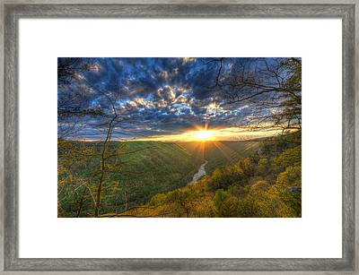 A Spring Sunset On Beauty Mountain In West Virginia. Framed Print