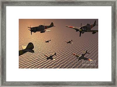 A Squadron Of Japanese Nakajima Torpedo Framed Print