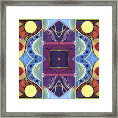 A Square Mandala - The Joy Of Design Xl Arrangement Framed Print by Helena Tiainen
