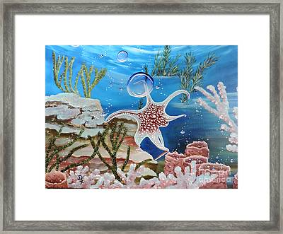 A Squid Named Sid Framed Print