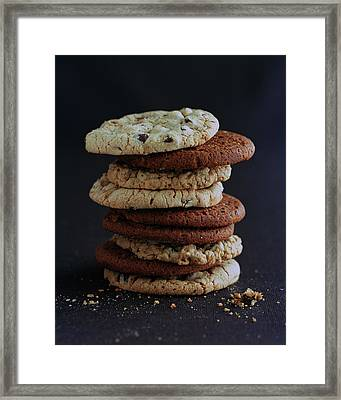 A Stack Of Cookies Framed Print