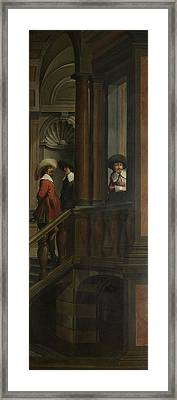 A Staircase, Right Side Of The Depiction Framed Print by Litz Collection