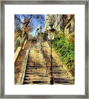 A Stairway In Montmartre Framed Print by Dragica  Micki Fortuna