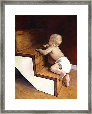 A Stairway Of Miracles Framed Print by Terri  Meyer