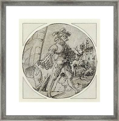 A Standard-bearer Before A Castle Master Of The Berlin Framed Print