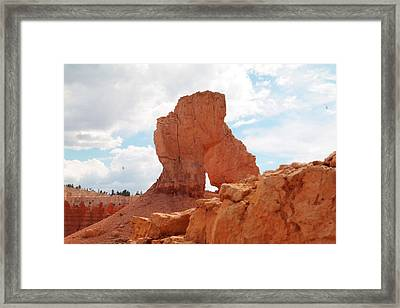 A Standing Rock Framed Print by Jeff Swan