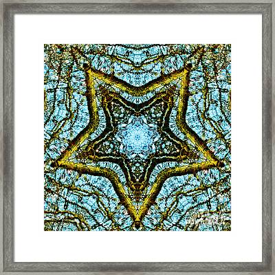 A Star Is Born - Kaleidoscope Abstract Design Framed Print