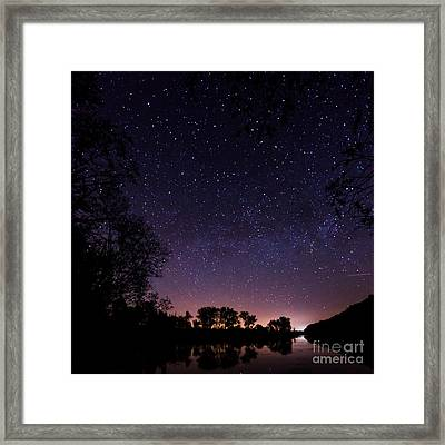 a starry night at the Inn Framed Print by Hannes Cmarits