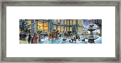 A Stately Christmas Framed Print