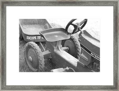 A Step Back In Time Framed Print by Sarah Klessig