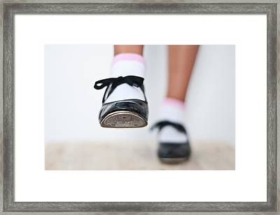 Old Tap Dance Shoes From Dance Academy - A Step Forward Tap Dance Framed Print