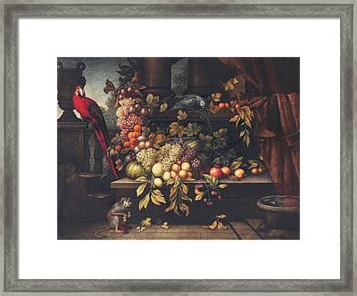 A Still Life With Fruit, Wine Cooler Framed Print by David Emil Joseph de Noter