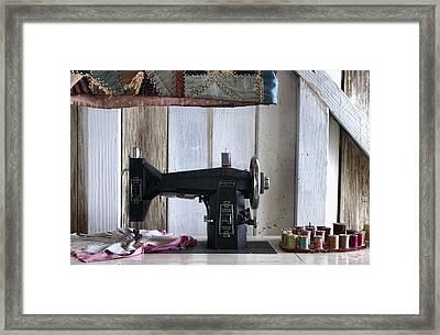 A Stitch In Time Framed Print by Chrystyne Novack