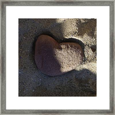 A Stone Heart Framed Print by Xueling Zou