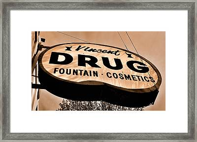 A Store For Everyone - Vintage Pharmacy Sign Framed Print