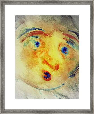 When A Storm Is Blowing Up To Scare Anyone  Framed Print by Hilde Widerberg