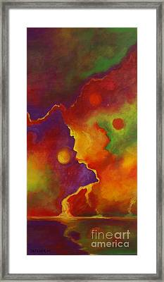 Framed Print featuring the painting A Storm Called Jimi by Alison Caltrider