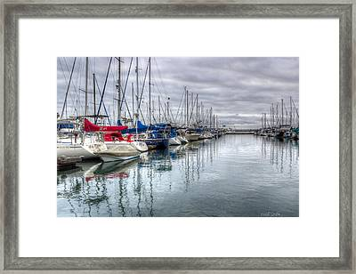 A Storm Was Brewing Framed Print by Heidi Smith