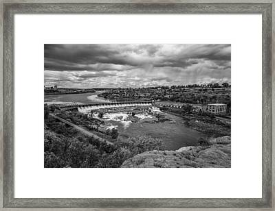 A Stormy Afternoon In Great Falls Montana Framed Print