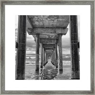 A Stormy Day In San Diego At The Framed Print by Larry Marshall