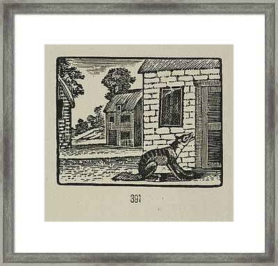 A Story Of The Three Little Pigs Framed Print by British Library