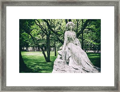 A Strange Dream Of Paris Framed Print by Georgia Fowler