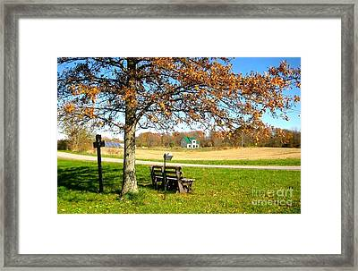 A Straw House Framed Print