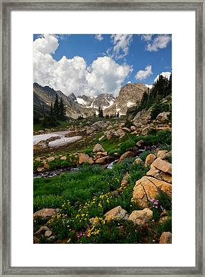 Framed Print featuring the photograph A Stream Runs Through It by Ronda Kimbrow
