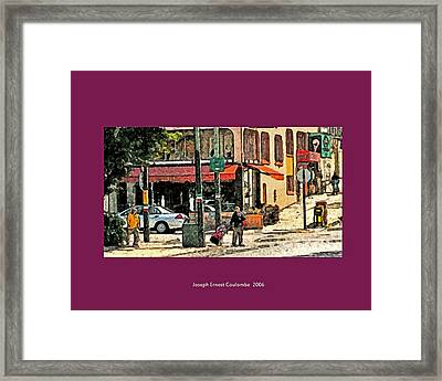 A Street In Frisco 2006 Framed Print by Joseph Coulombe