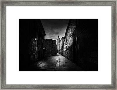 A Street In Salamanca Framed Print