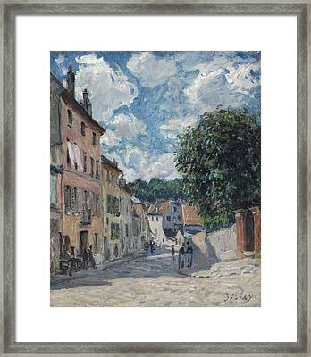 A Street, Possibly In Port-marly, 1876 Framed Print