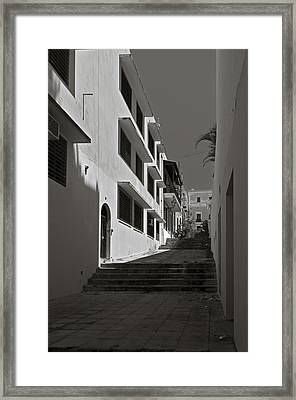 A Street With No Name  Framed Print