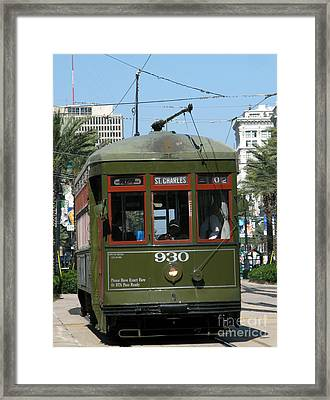 A Streetcar Named Something Else Framed Print by Olivier Le Queinec