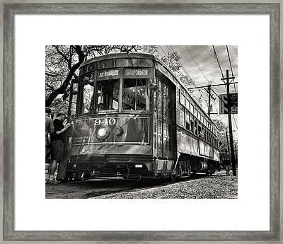 A Streetcar Named St Charles Framed Print