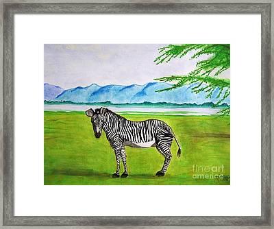 A Striped Chap Framed Print