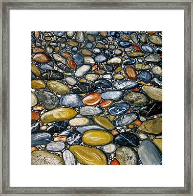 A Stroll Along The Beach Framed Print by Heather Matthews