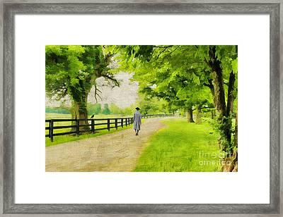 A Stroll Along The Bluegrass Framed Print by Darren Fisher