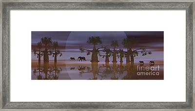 Framed Print featuring the digital art A Stroll By Moonlight by Jacqueline Lloyd