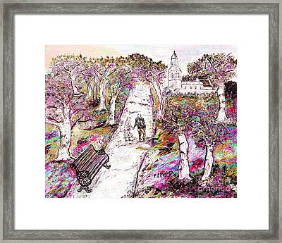 A Stroll In Autumn Framed Print by Loredana Messina