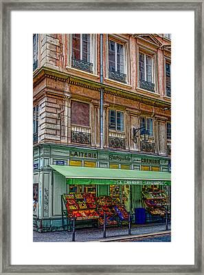 A Stroll In Lyon Framed Print