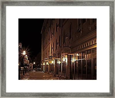 Framed Print featuring the photograph A Stroll In The City by Deborah Klubertanz