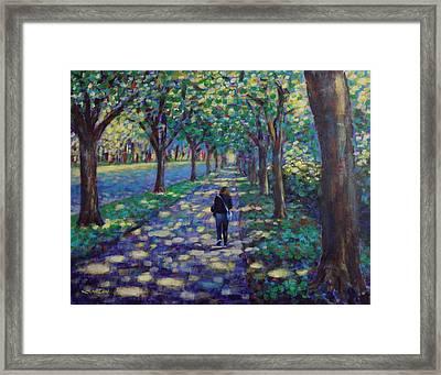 A Stroll On Griffith Avenue Dublin Framed Print by John  Nolan