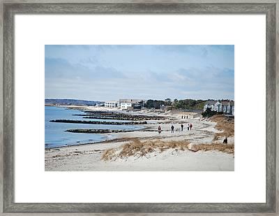 A Stroll On The Beach Framed Print by Alan Holbrook
