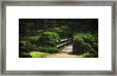 A Stroll Through The Park Framed Print